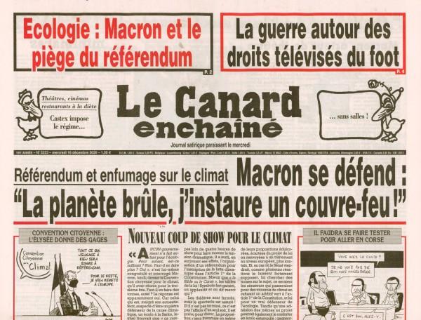 Le Canard enchaînè 5223/2020