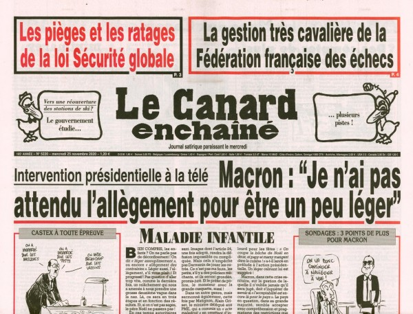 Le Canard enchaînè 5220/2020