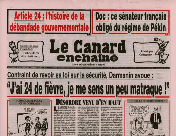 Le Canard enchaînè 5221/2020