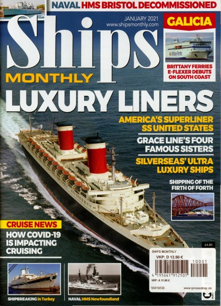 Ships MONTHLY 1/2021