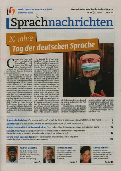 Sprachnachrichten 88/2020
