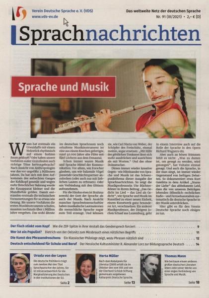 Sprachnachrichten 91/2021