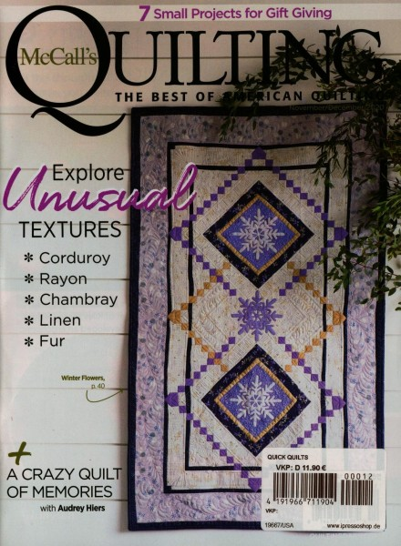 McCall`s QUILTING 12/2020