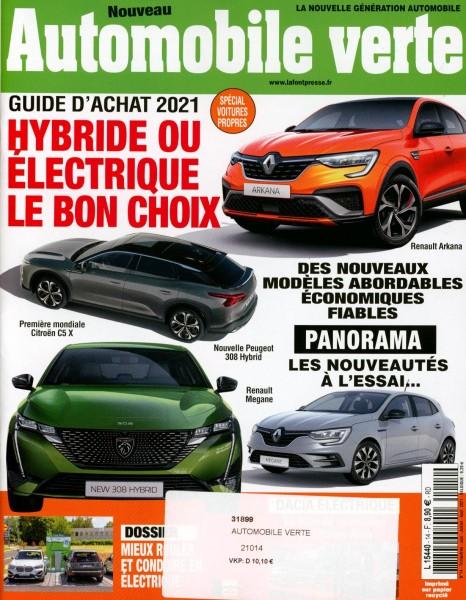 Automobile verte 14/2021