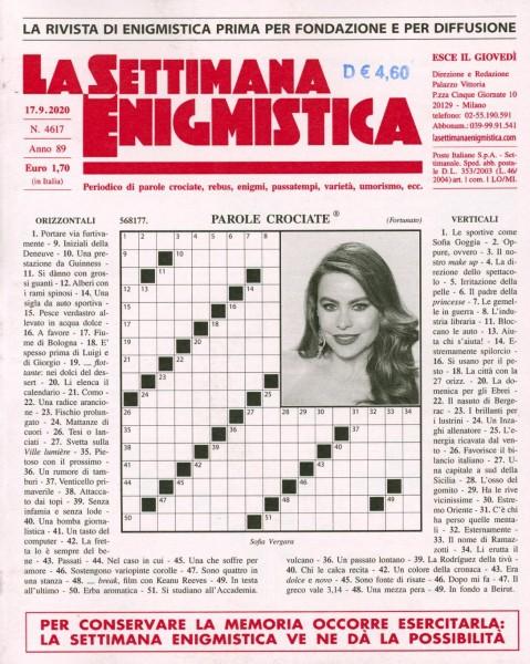 LA SETTIMANA ENIGMISTICA 4617/2020