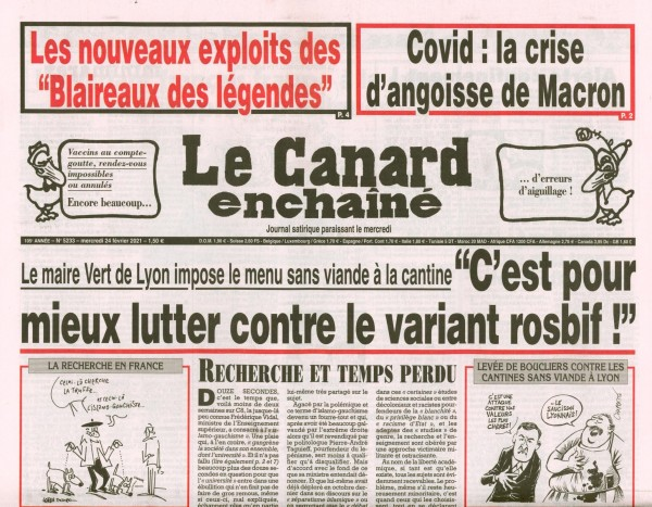 Le Canard enchaînè 5233/2021