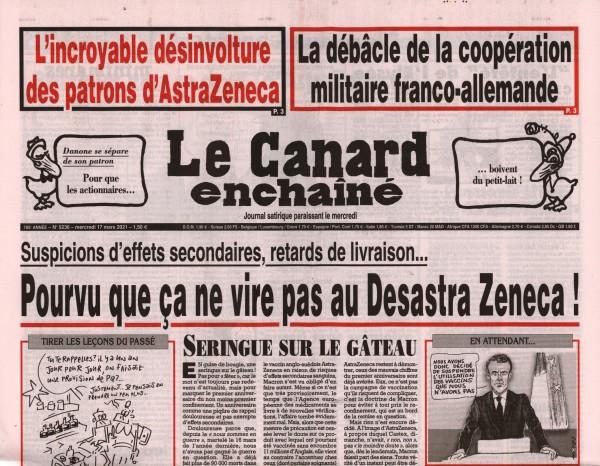 Le Canard enchaînè 5236/2021