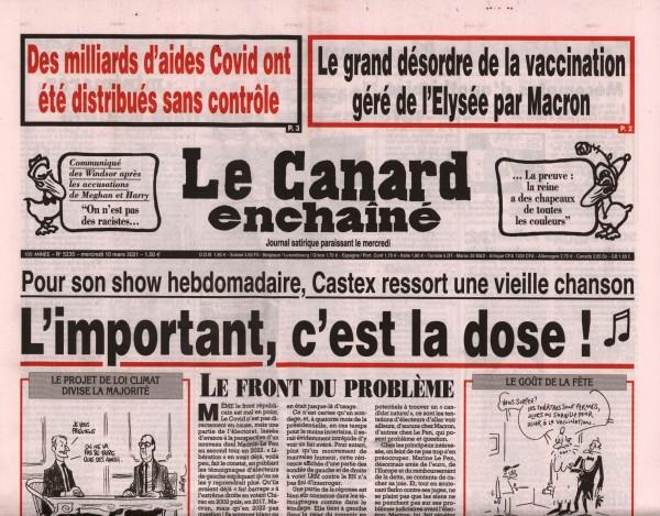 Le Canard enchaînè 5235/2021