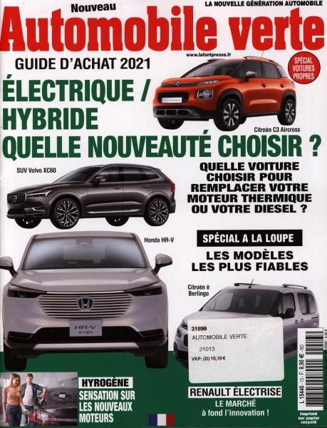 Automobile verte 13/2021