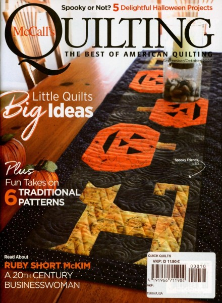 McCall`s QUILTING 10/2020