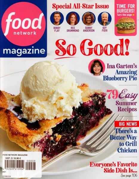 food network magazine 8/2020