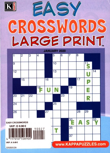 EASY CROSSWORDS 27/2019